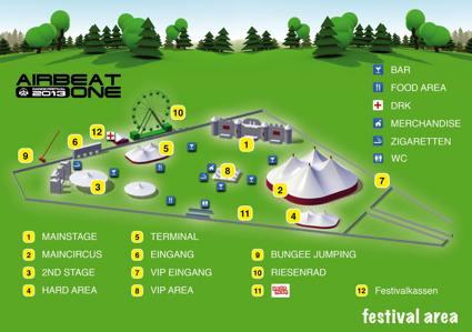 Airbeat One 2013 Lageplan