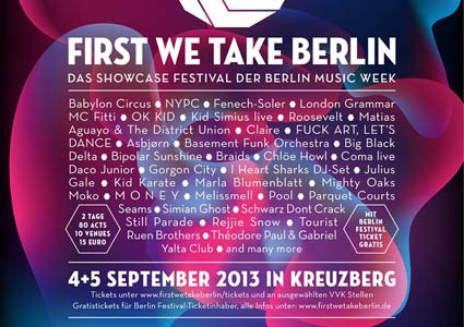 First We Take Berlin Festival
