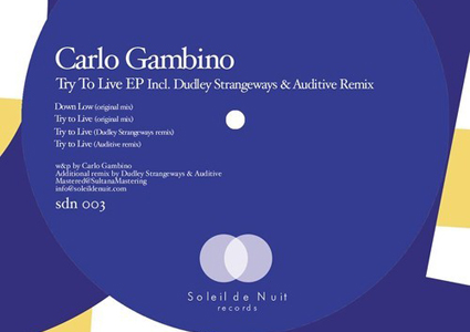 Try To Live EP - Carlo Gambino