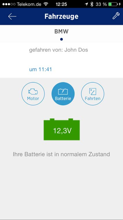 Batterie Analyse am iPhone
